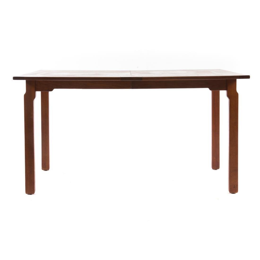 Dunbar contemporary walnut dining table