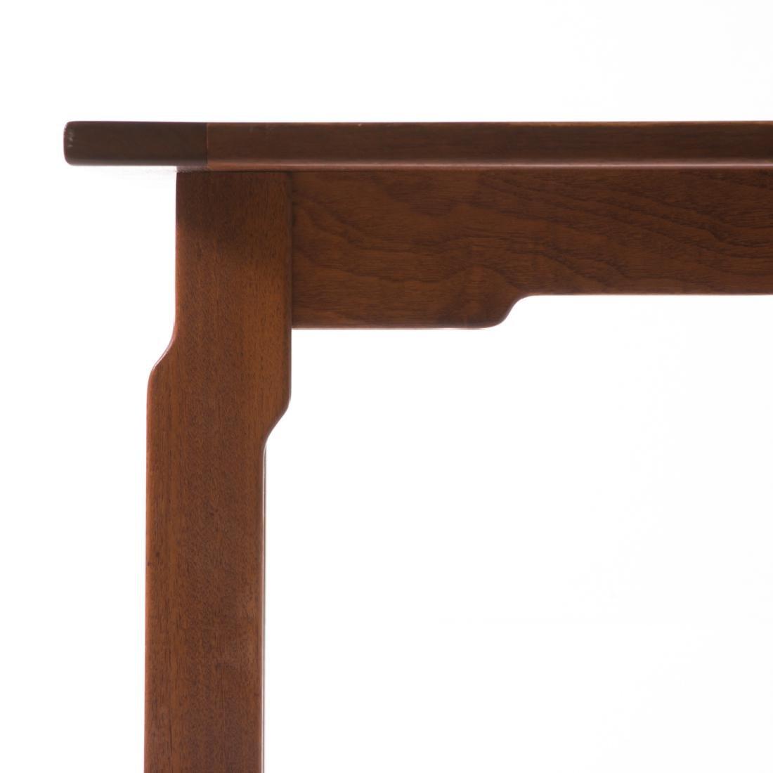 Dunbar contemporary walnut dining table - 2