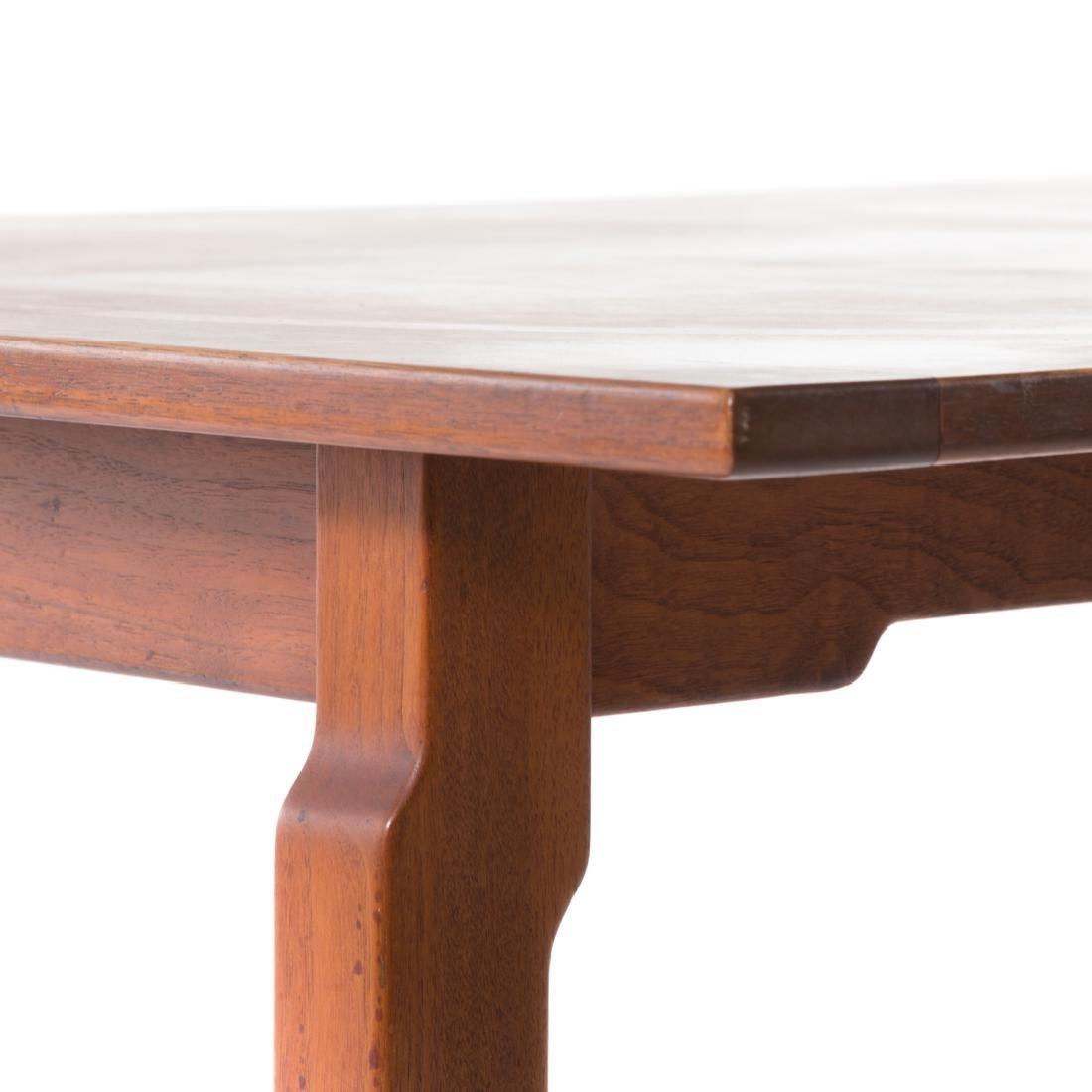 Dunbar contemporary walnut dining table - 3