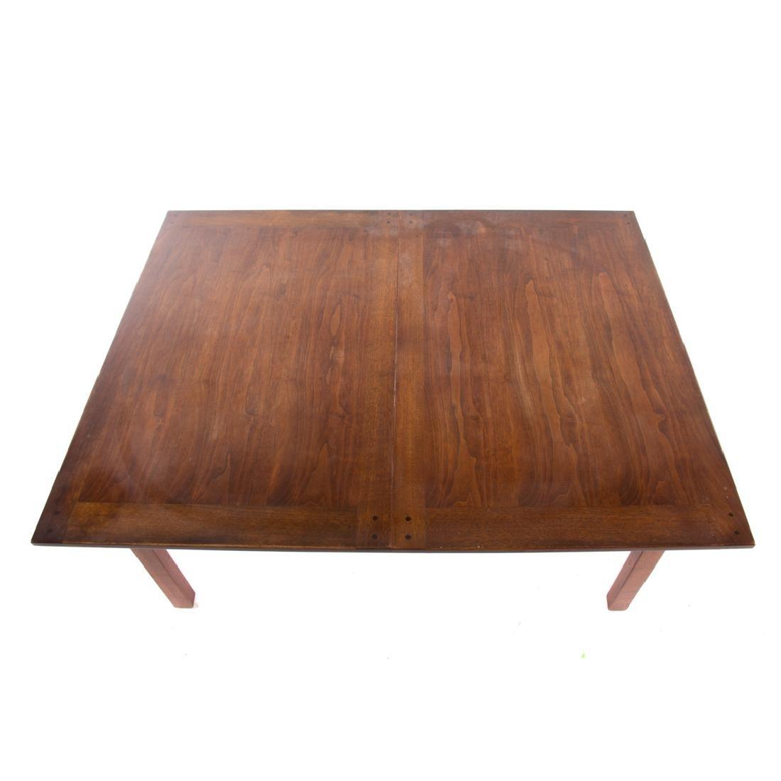 Dunbar contemporary walnut dining table - 4