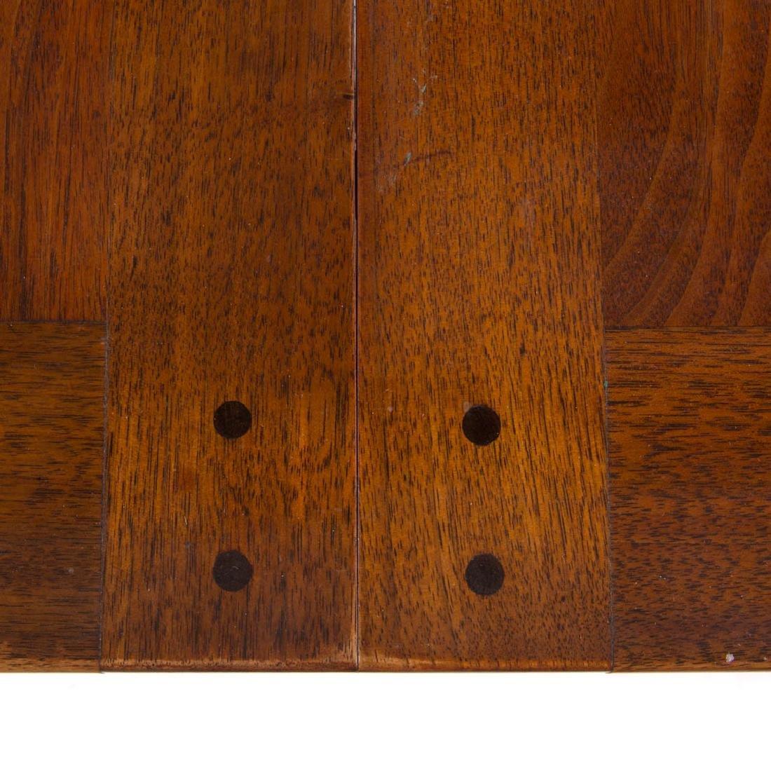 Dunbar contemporary walnut dining table - 5
