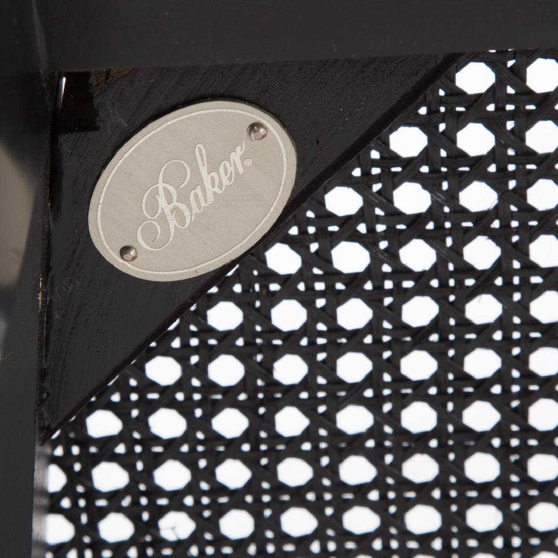 10 Baker Regency style ebonized/gilt dining chairs - 5