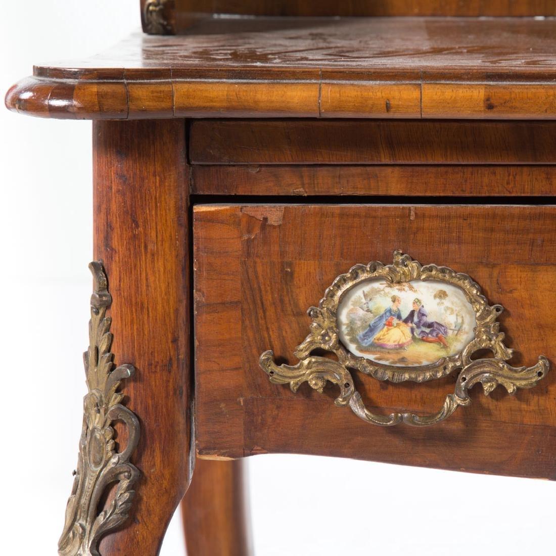 Napoleon III walnut veneer writing desk - 4