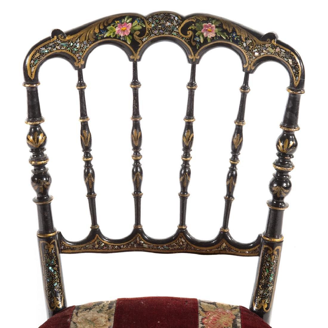 Napoleon III walnut veneer writing desk - 5