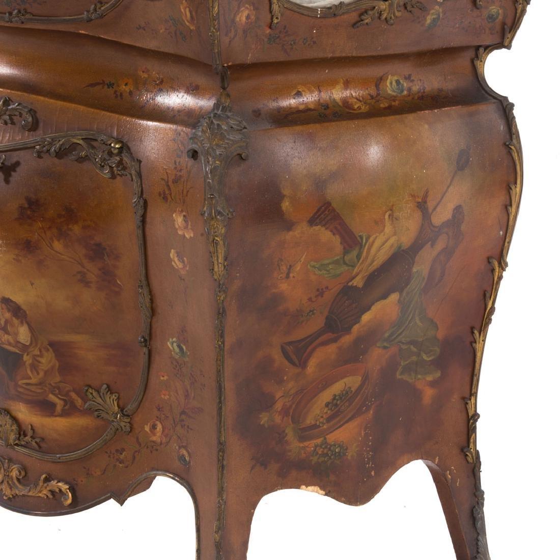 Louis XV style bombe Vernis Martin vitrine - 4