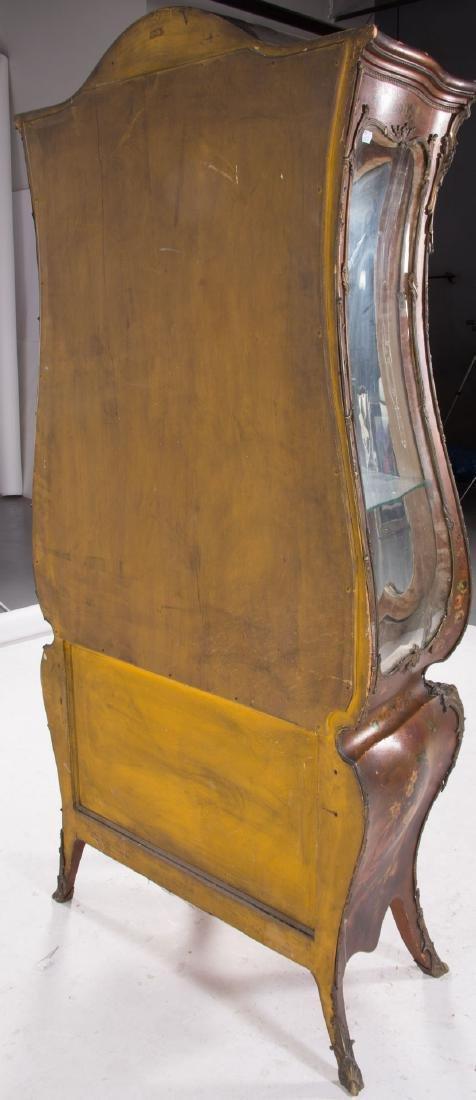 Louis XV style bombe Vernis Martin vitrine - 7