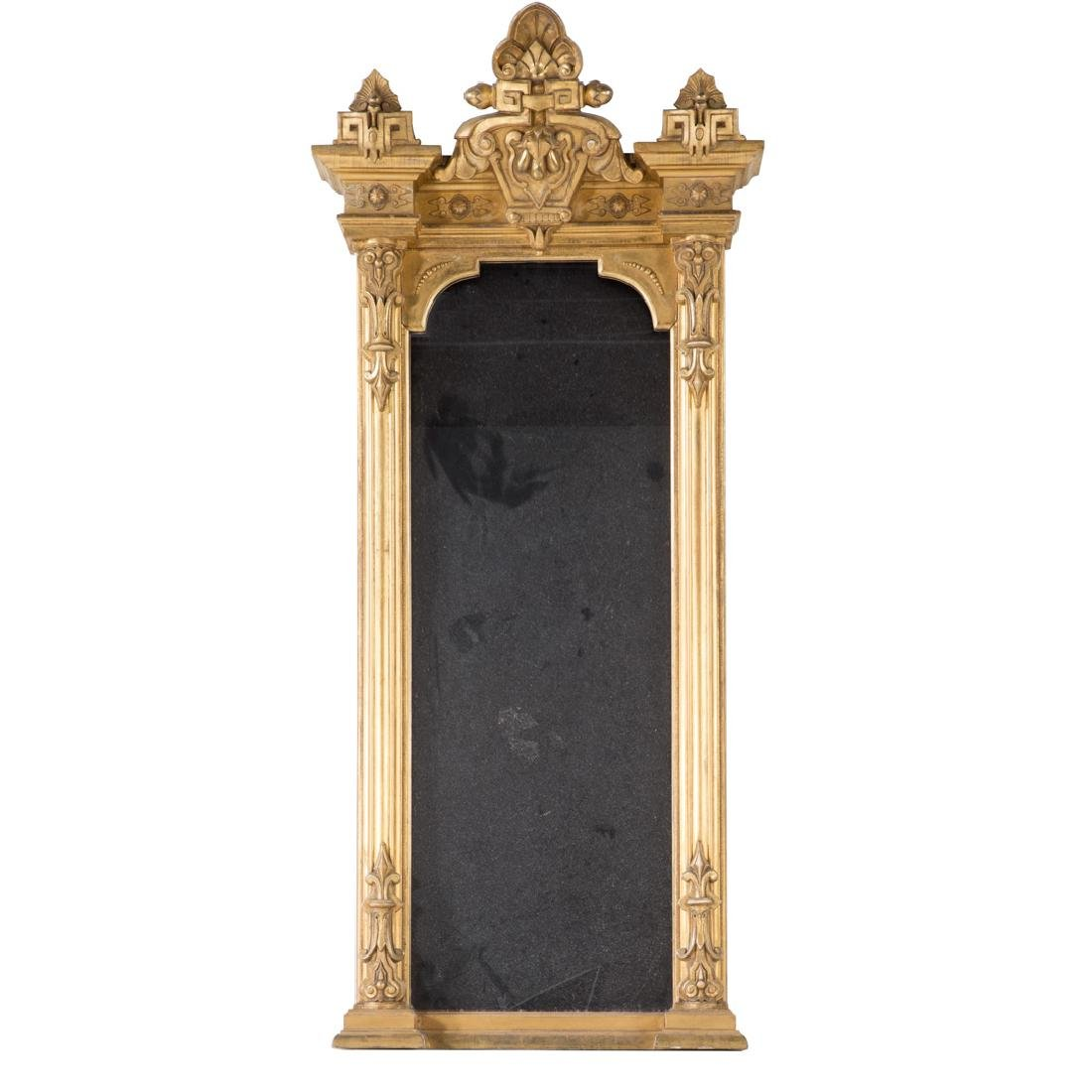 Renaissance Revival giltwood pier mirror - 2