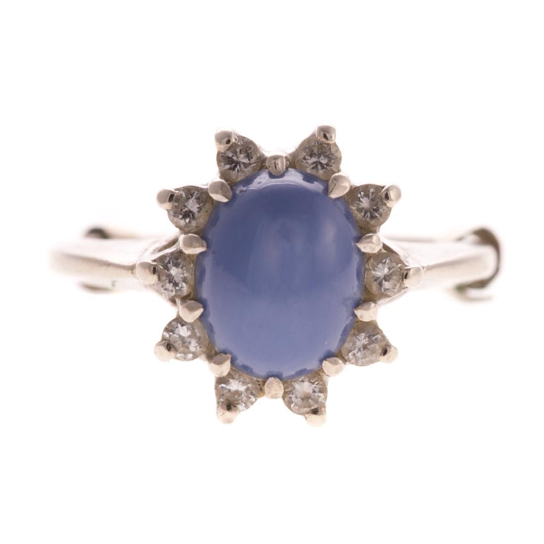 A Lady's Star Sapphire & Diamond Ring in 14K