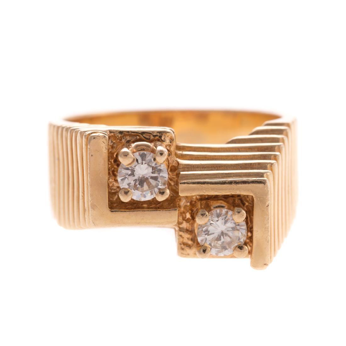 A Gentlemen's Diamond Ring in 14K Gold