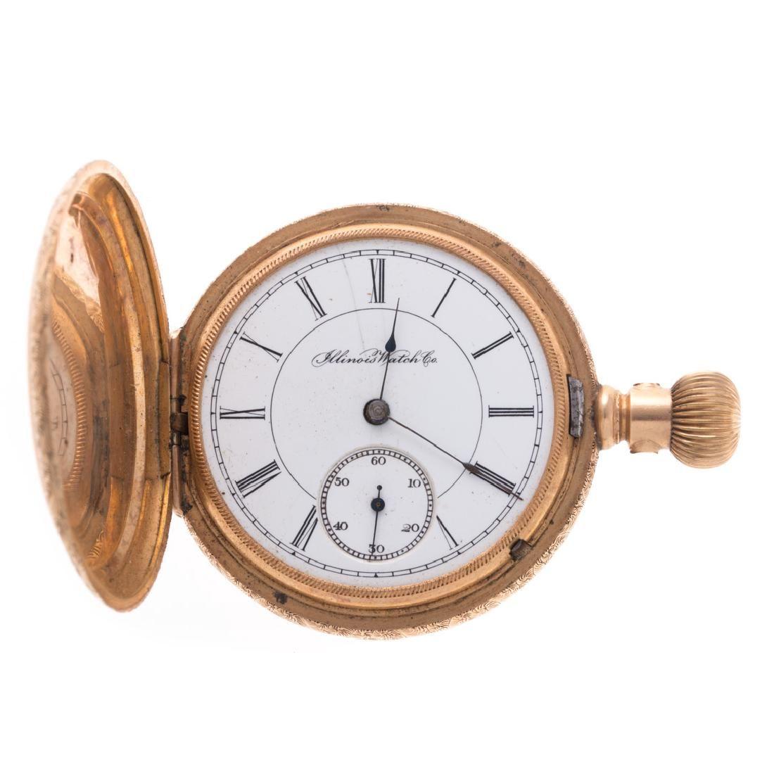 A Gentlemen's Illinois Pocket Watch in 14K