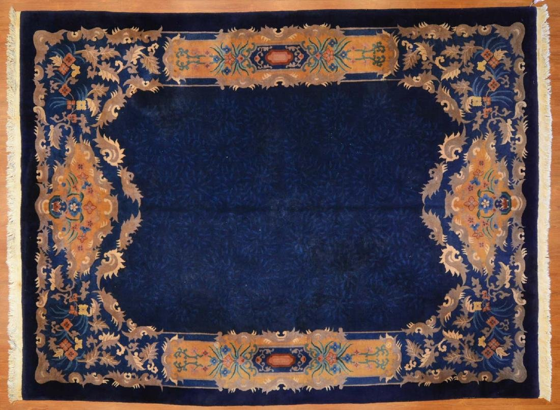 Antique Nichols Chinese carpet, approx. 8.8 x 11.8
