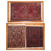 Three antique Persian scatter rugs