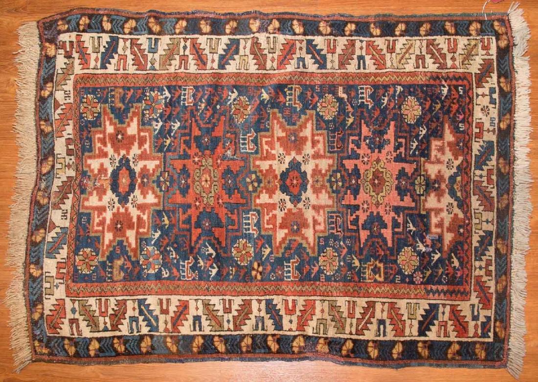 Antique Lesghi rug, approx. 3.5 x 4.8