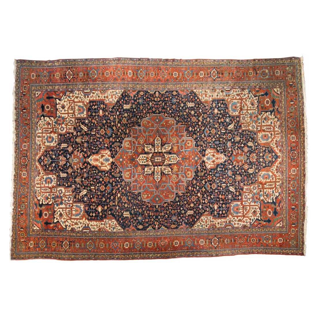 Rare antique Serapi carpet, approx. 15 x 21.7