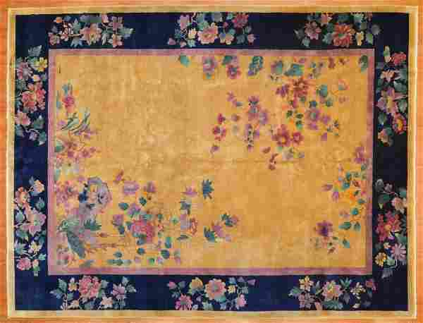 Antique Nichols Chinese rug, approx. 8.9 x 11.4