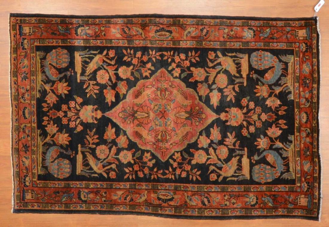 Antique Sarouk rug, approx. 4.3 x 6.5