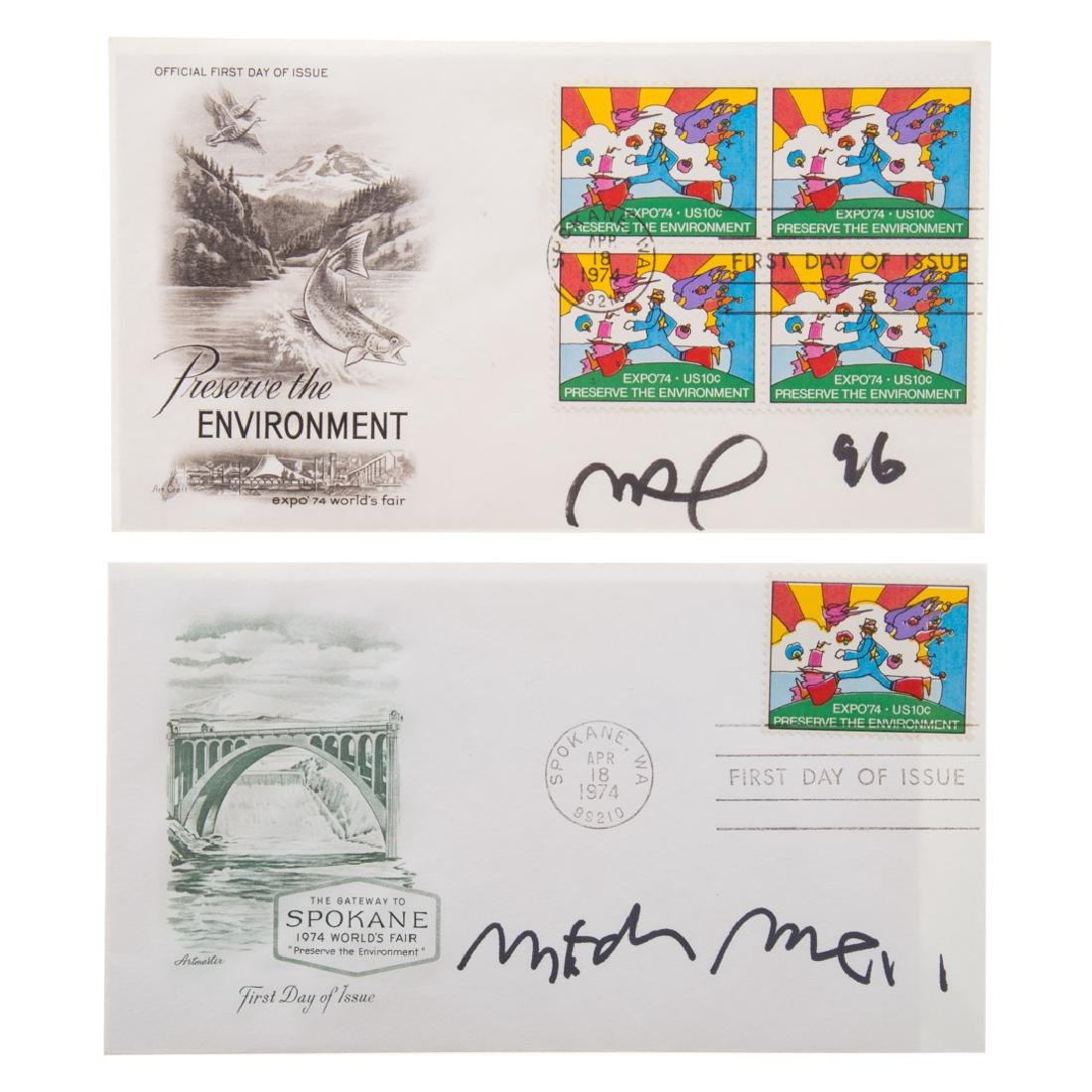 Peter Max. 5 first day issue stamps