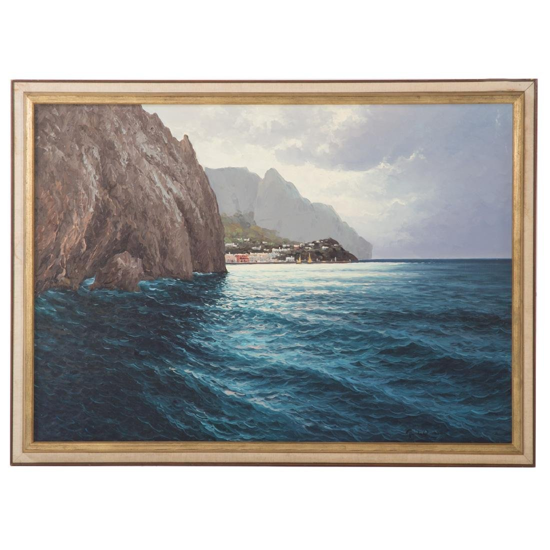 Guido Ordierna. Capri, oil on canvas