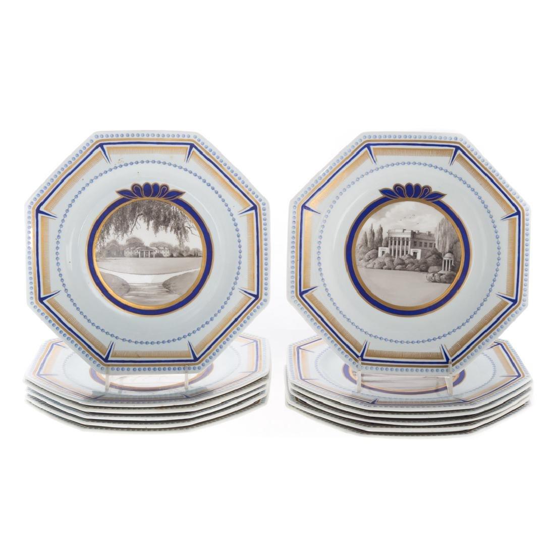 12 Wedgwood Isabel Marshall plates