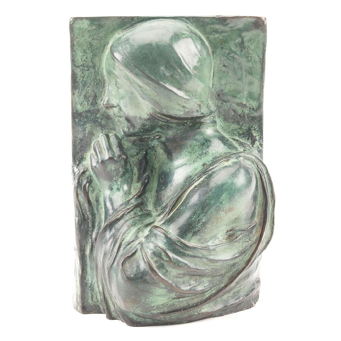 After Auguste Rodin. Relief of a Woman bronze