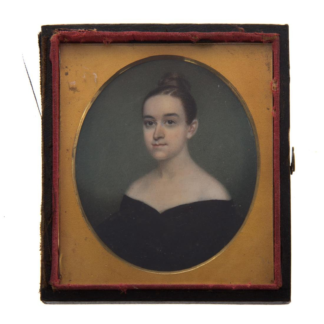 Attributed to Nathaniel Rogers. Miniature portrait