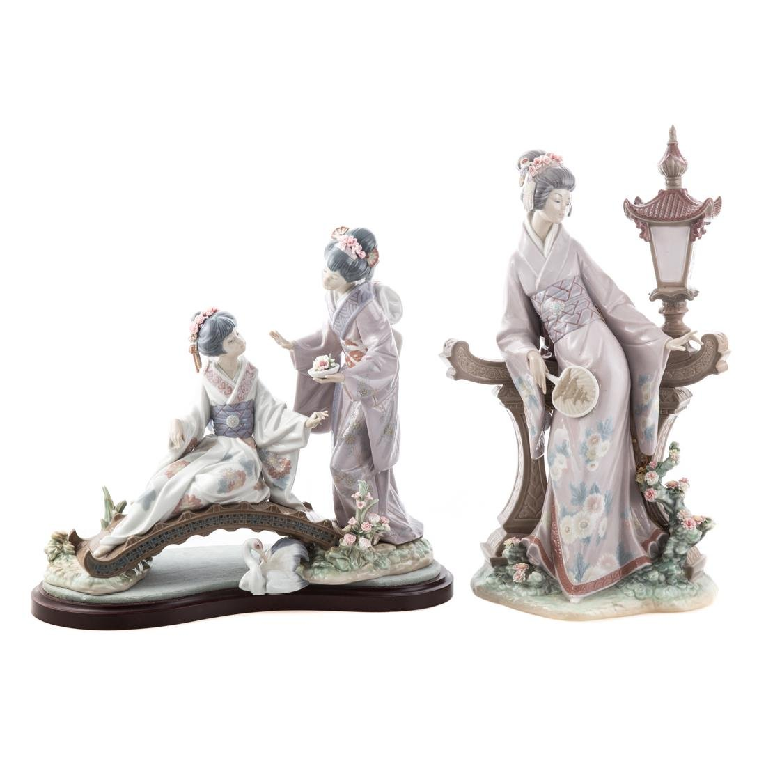 Two large Lladro porcelain groups