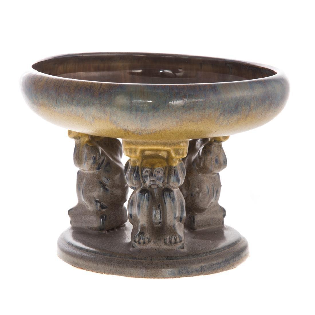 Fulper art pottery Effigy bowl