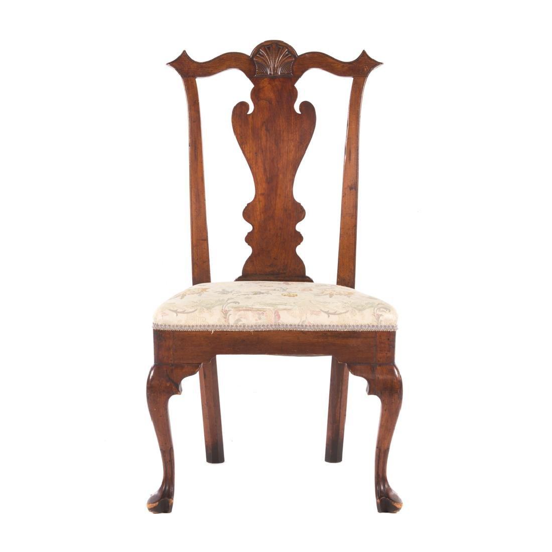 American Queen Anne walnut side chair