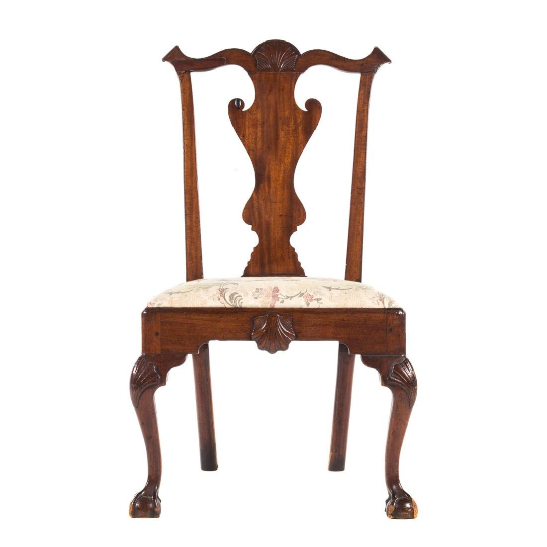 American Chippendale walnut side chair