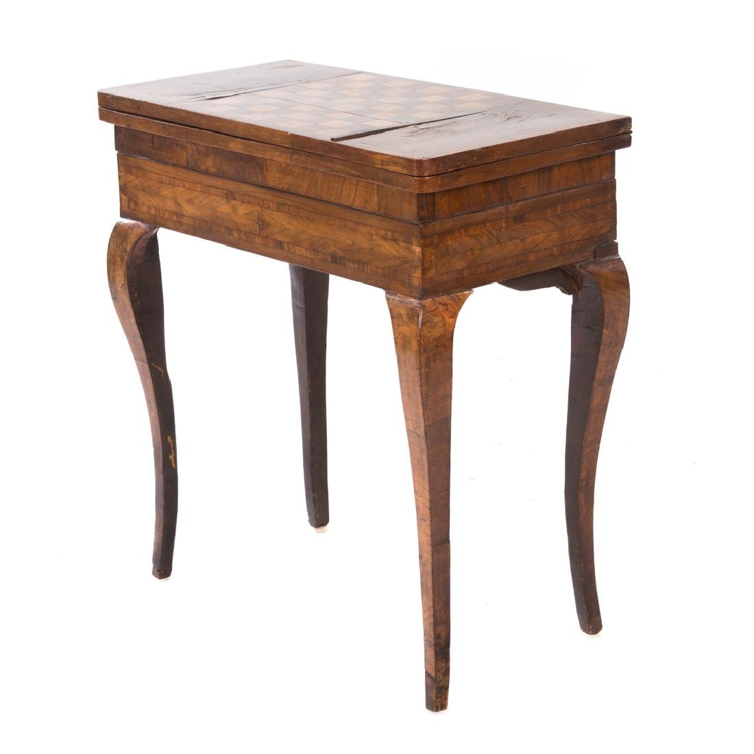 Continental walnut double flip-top games table
