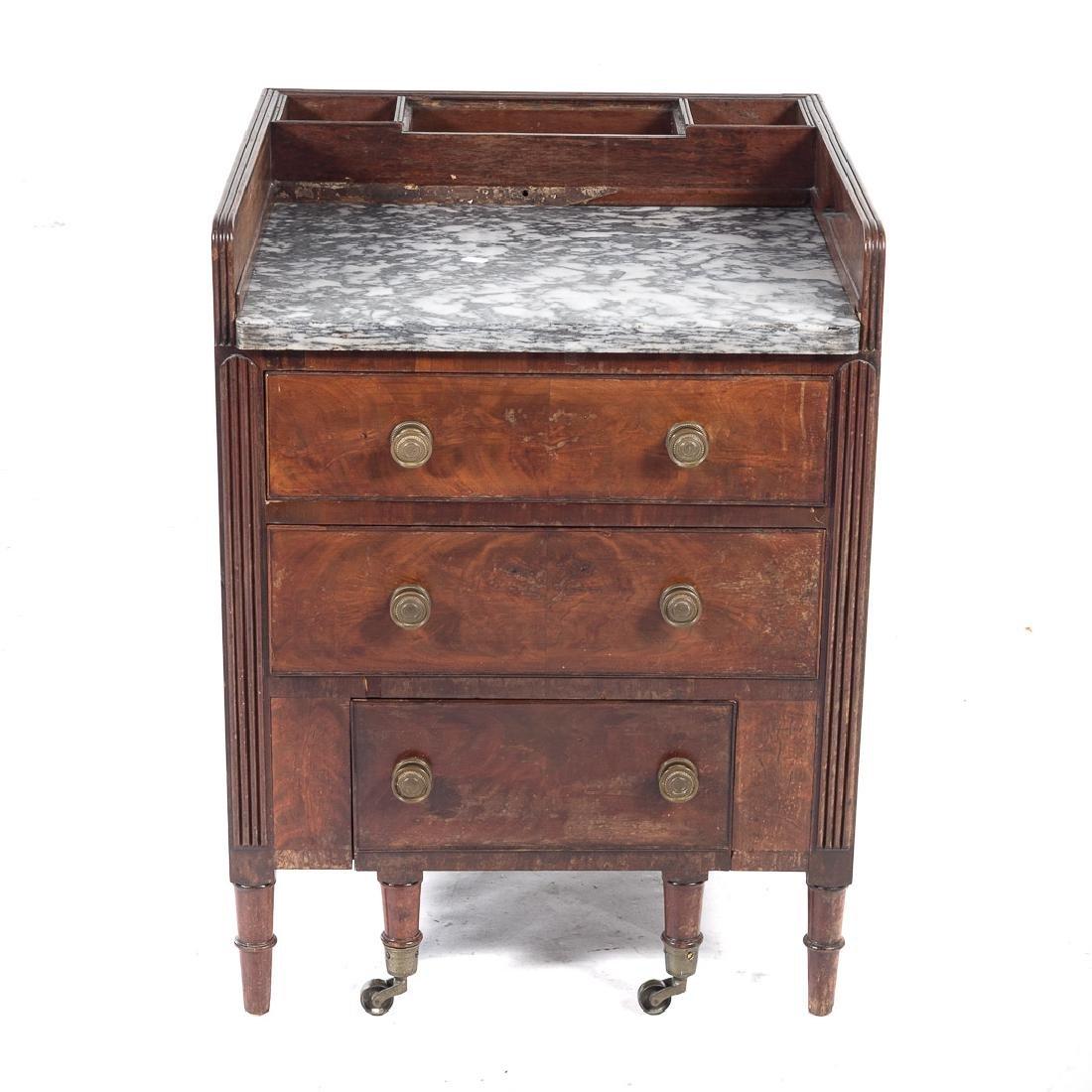 American Classical mahogany commode