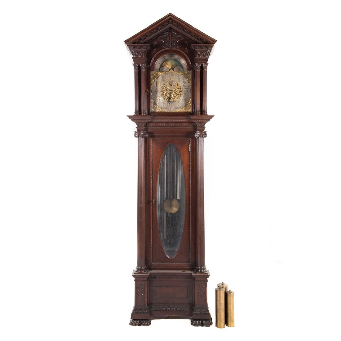 Classical Revival style grandfather clock