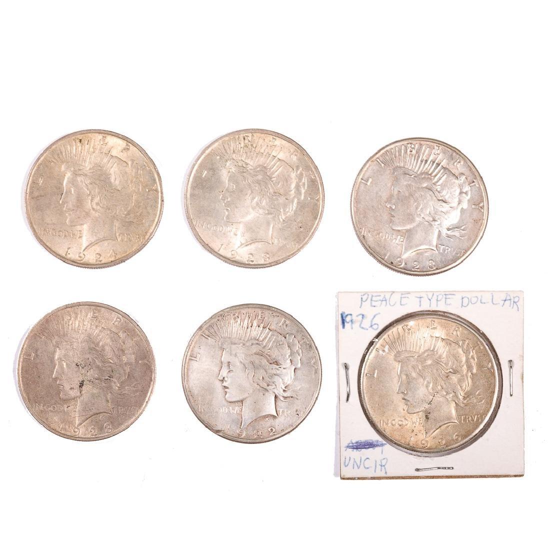 [US] Six Peace Dollars