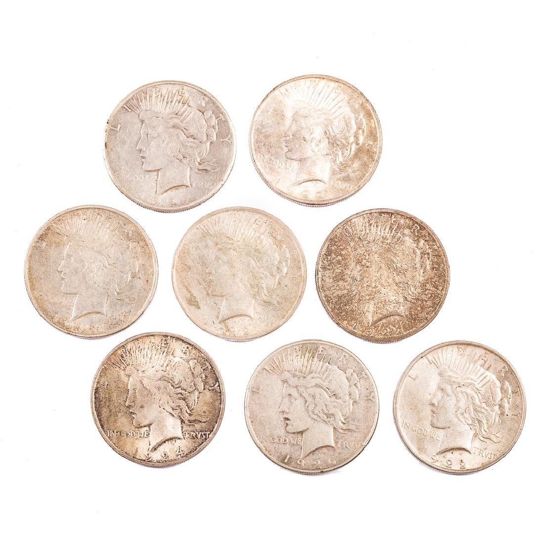 [US] Eight Peace Dollars