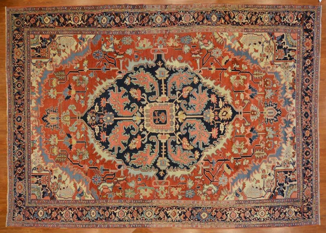 Rare antique Serapi carpet, approx. 9.9 x 13.6