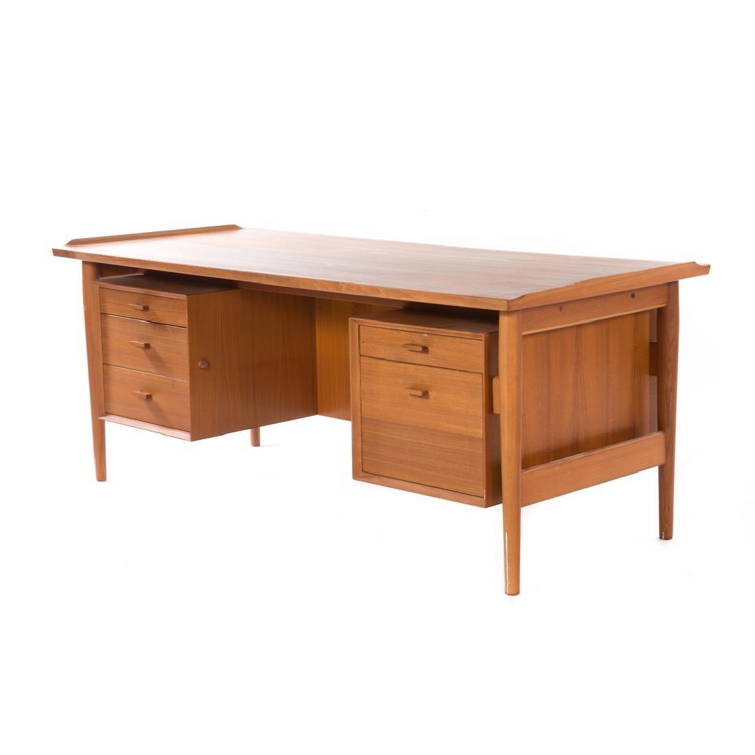 Arne Vodder Danish Mid-Century Modern teak desk