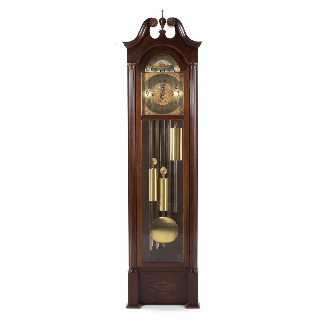 Herschede Classical Revival mahogany tall clock