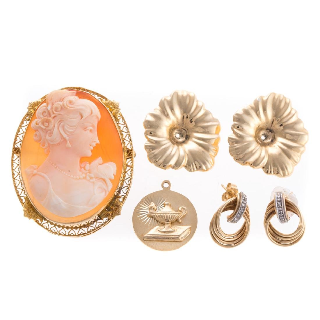 An Assortment of Lady's Gold Jewelry