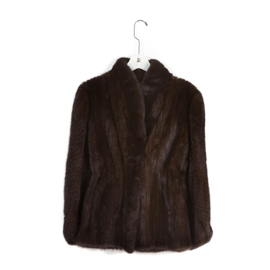 A Lady's Chocolate Brown Mink Jacket