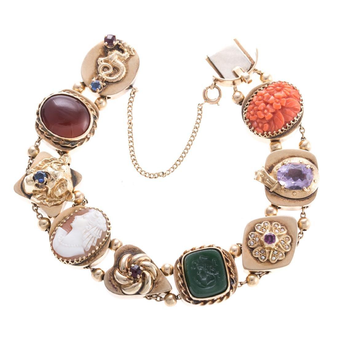 An Impressive Victorian Slide Bracelet in Gold