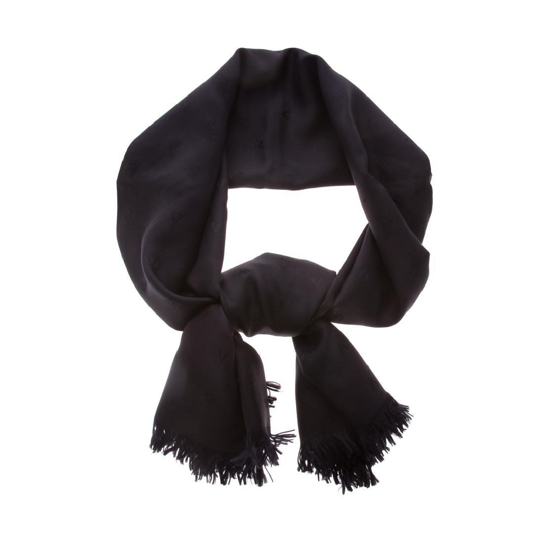 A Hermès Black Tonal Insect Scarf