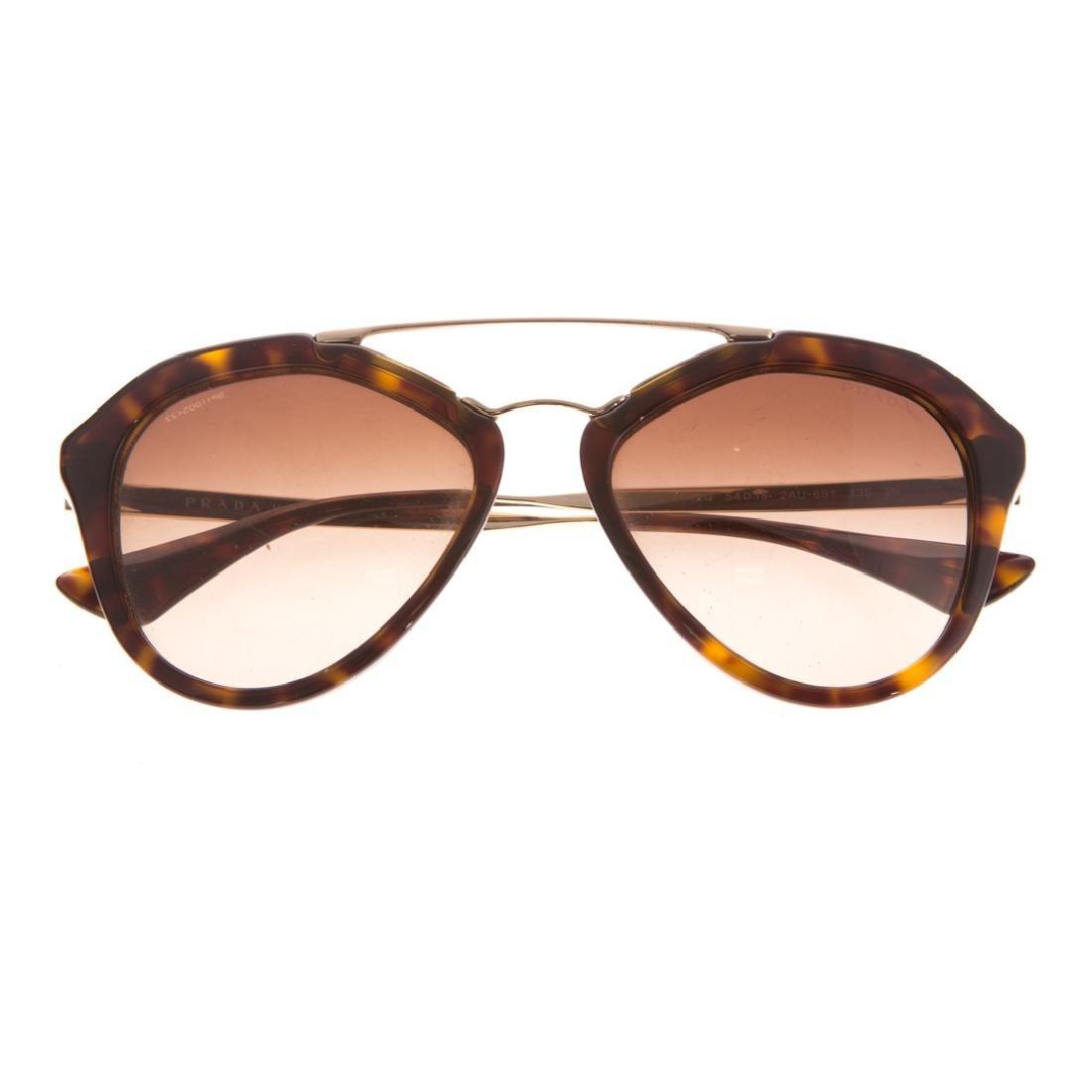 A Pair of Lady's Prada Aviator Sunglasses