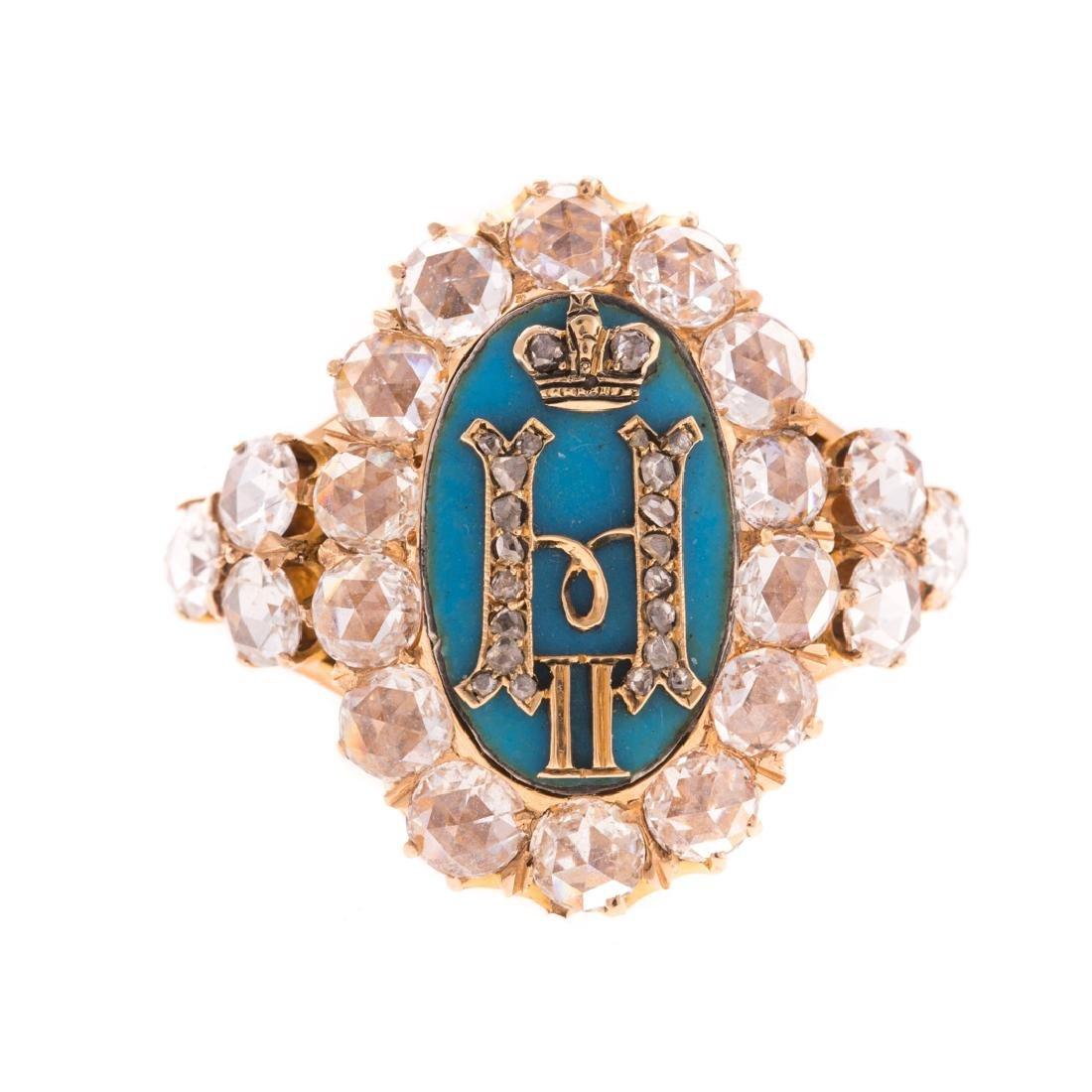 A Rare Czar Nicholas II Imperial Monogram Ring