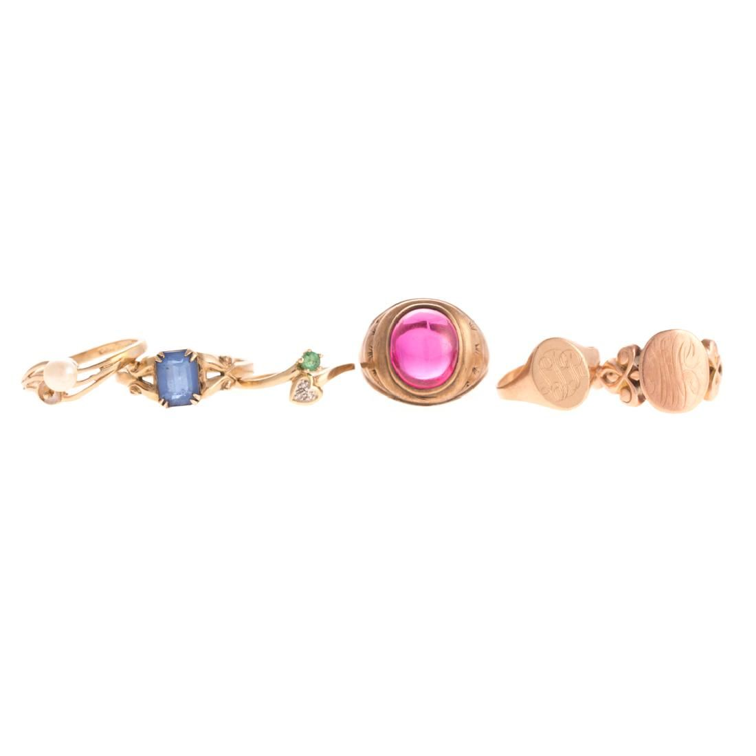 Six Lady's Gemstone Rings in Gold