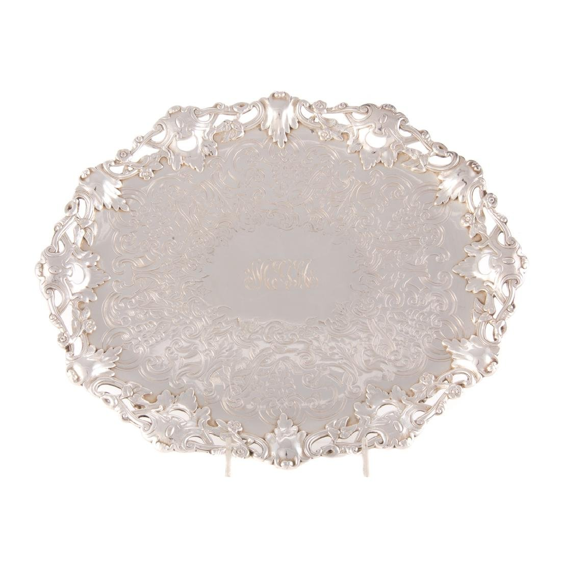 Ball, Black & Co. sterling footed platter