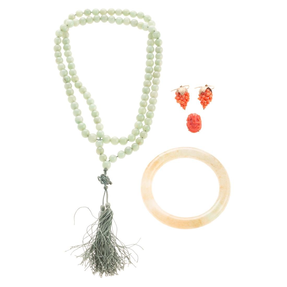 A Collection of Jade & Coral Jewelry