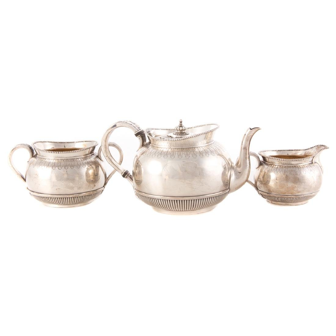 Victorian sterling 3-pc individual tea set