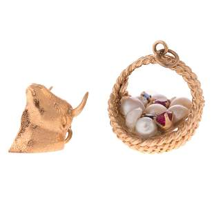 A Pair of Ladys14K Charms