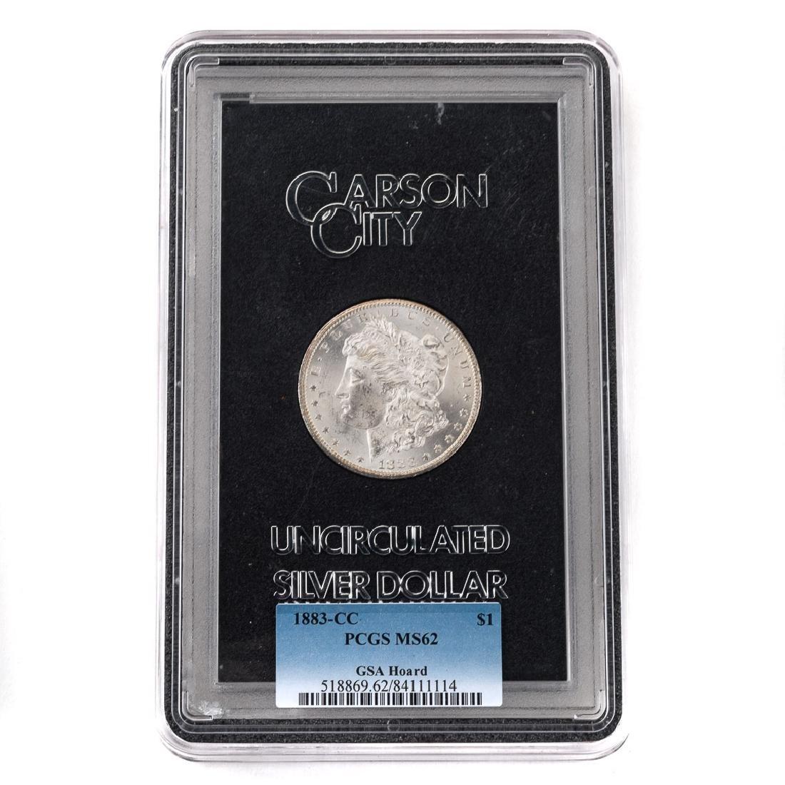 [US] 1883-CC Morgan Dollar GSA PCGS-MS62