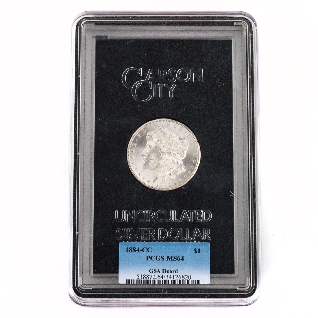 [US] 1884-CC Morgan Dollar GSA PCGS-MS64